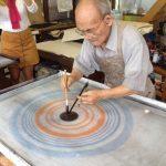 Suminagashi master Mr. Fukuda!
